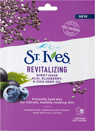 Revitalizing Sheet Mask Acai, Blueberry & Chia Seed Oil